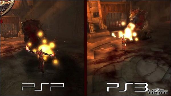God Of War Origins Collection SD Vs HD Comparison