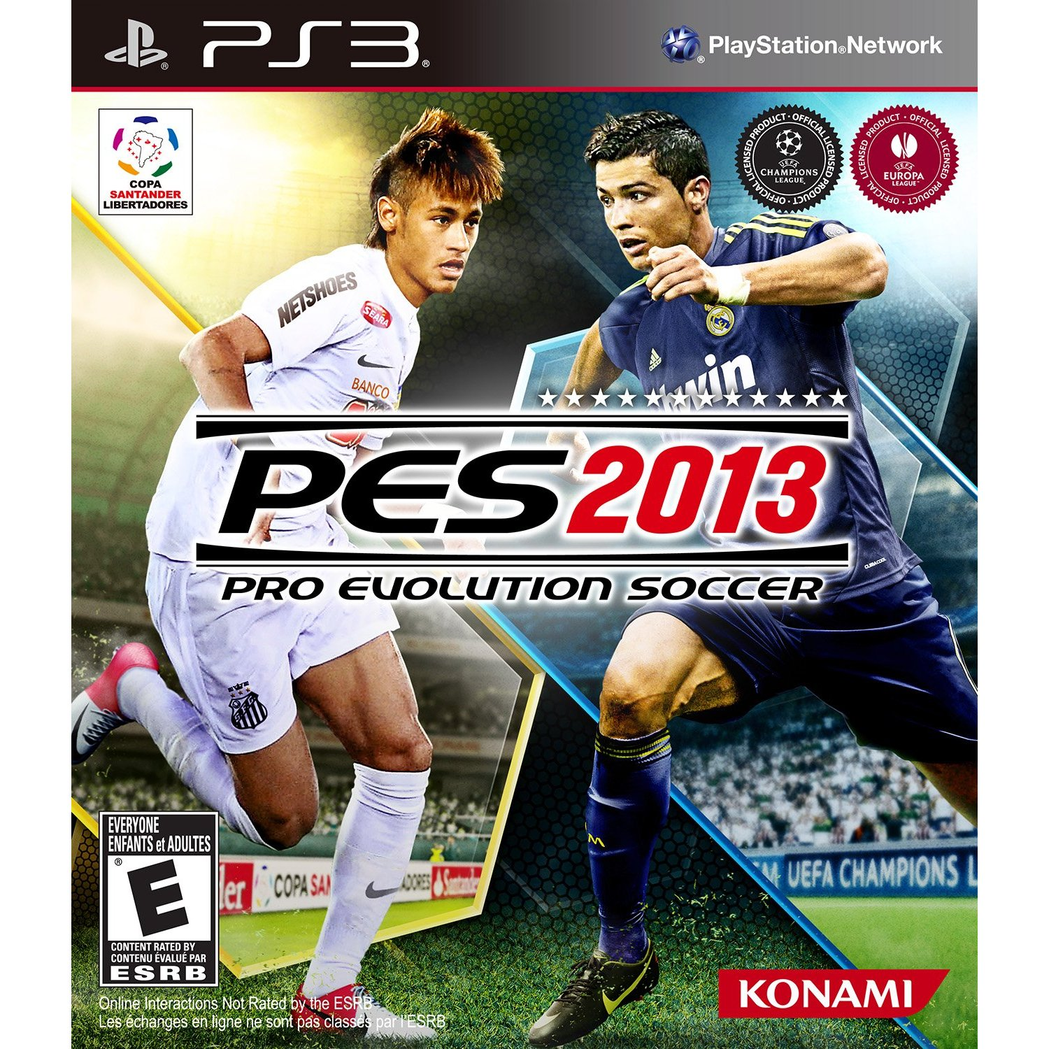 Pes 2013 box art revealed features ronaldo and neymar