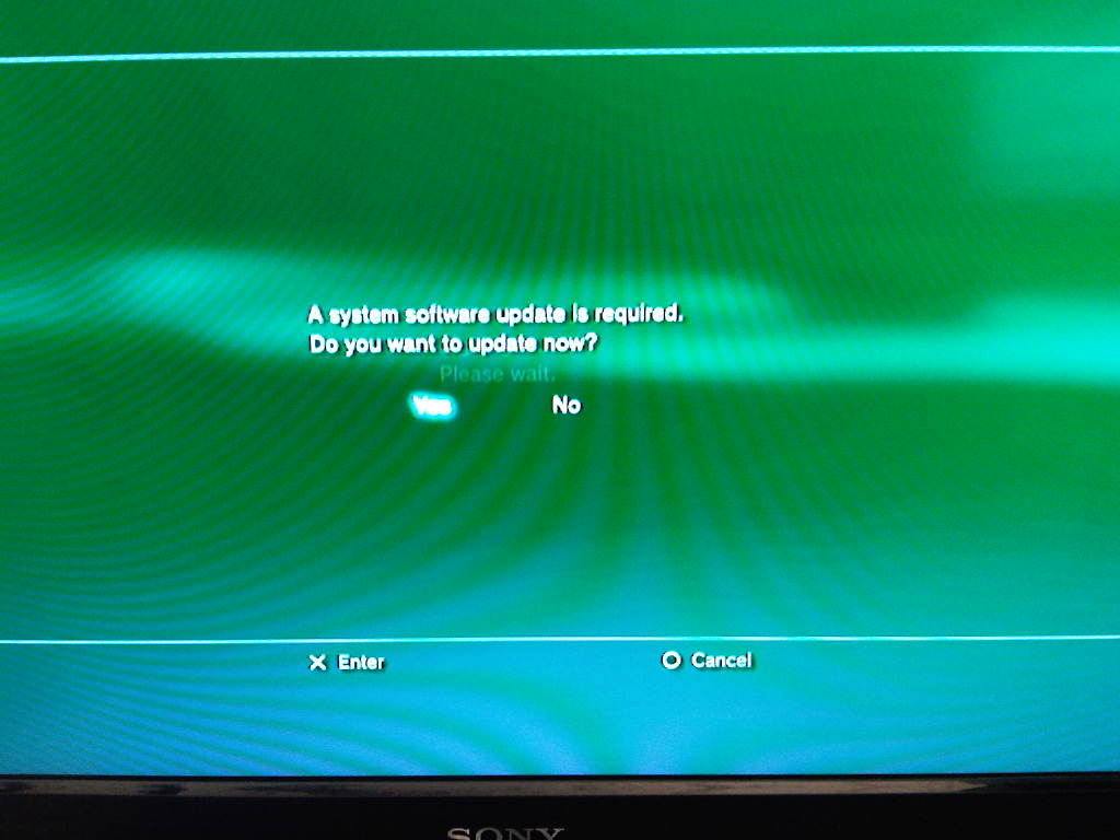 PS3 owner receives firmware update notification while PSN ...