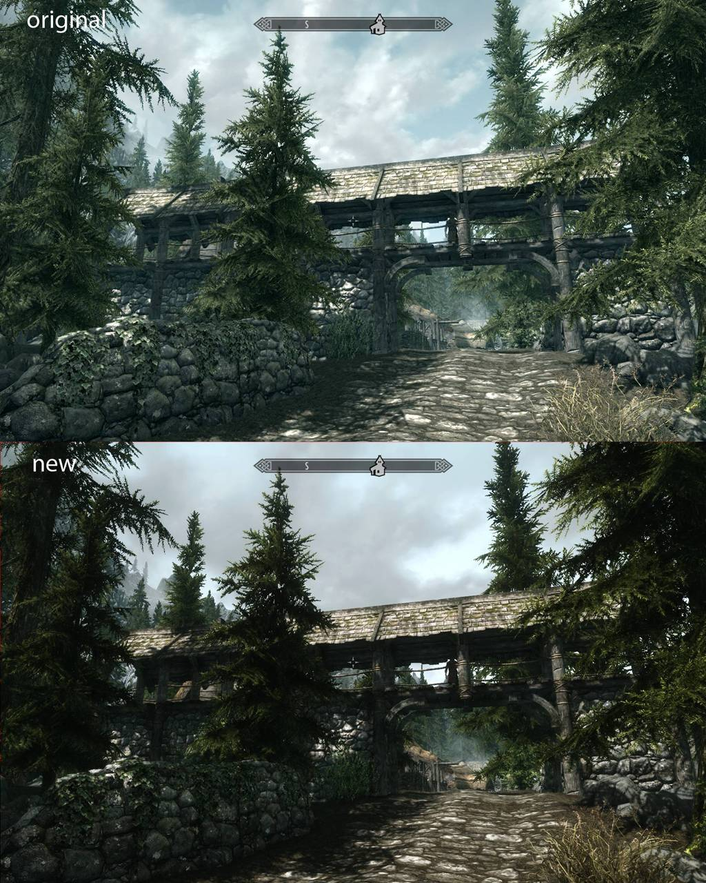 Skyrim Mod Comparison screen 1 Skyrim Mod Comparison screen 2 ... & New Skyrim Mod completely transforms the game