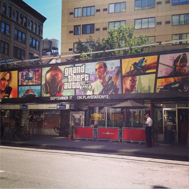 Gta Grand Theft Auto V 5 Ps3: GTA V Advertised As PS3 Exclusive In New York City