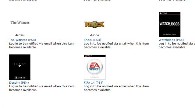 FIFA 14 PS4 Listing on Amazon Germany