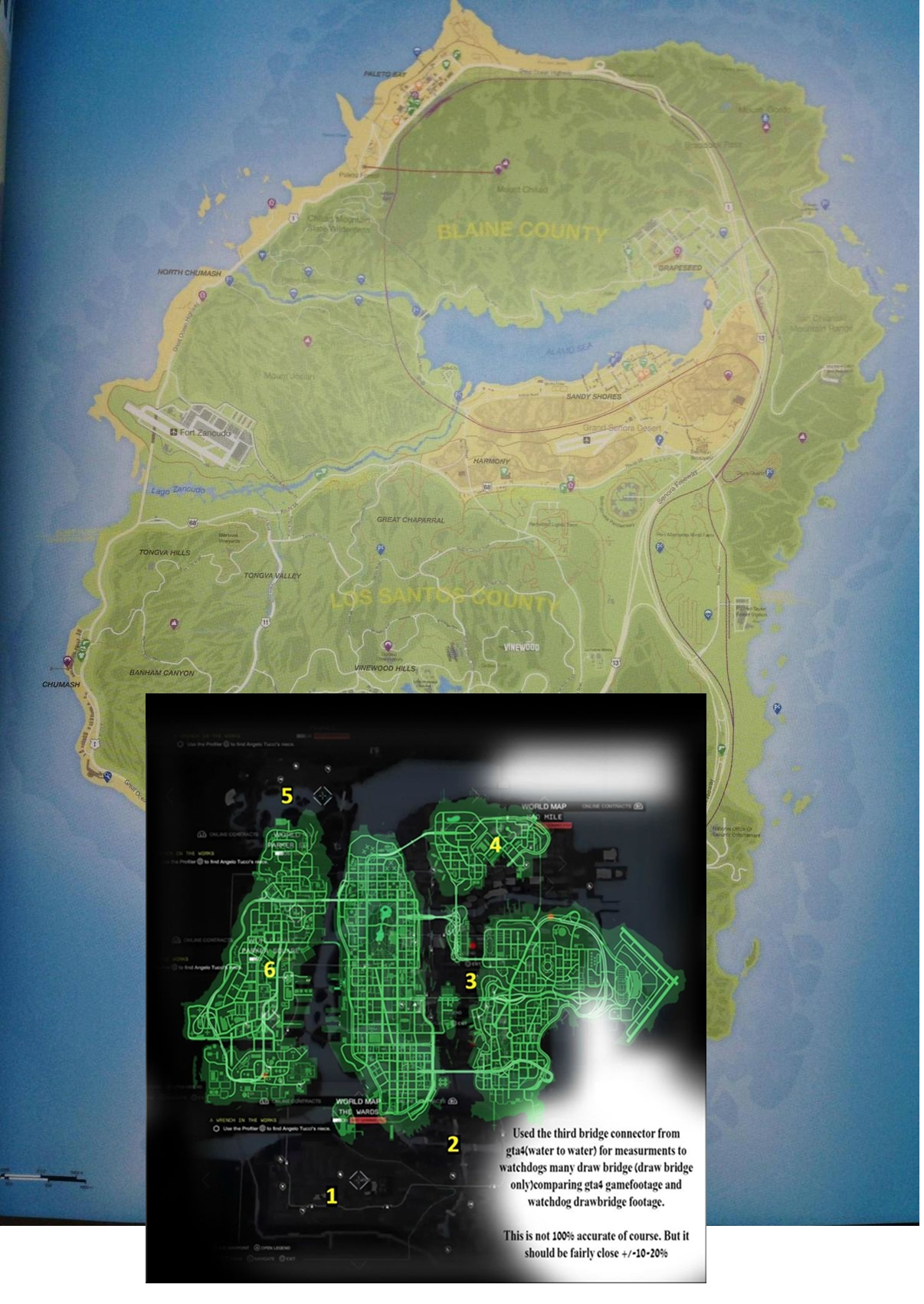 Gta V Map Compared To Watch Dogs