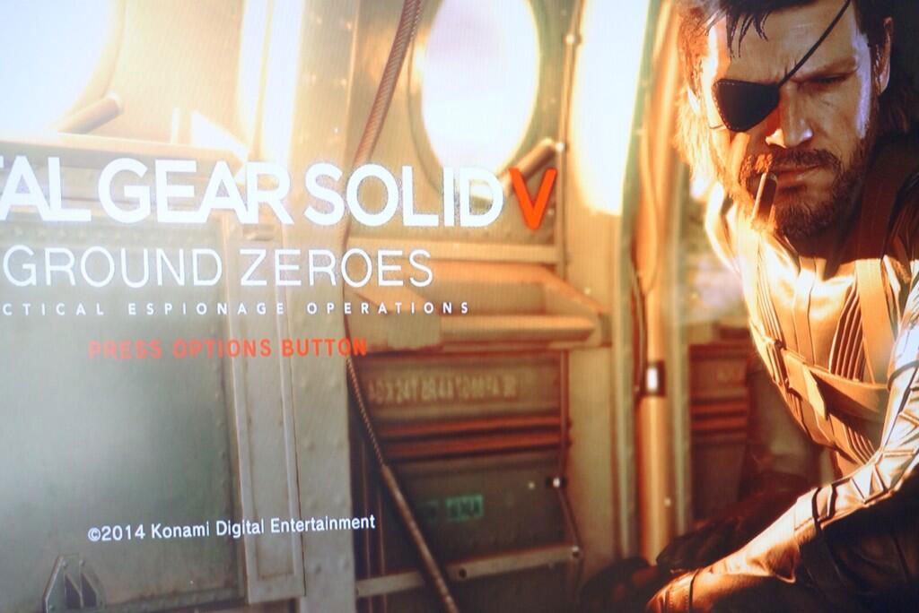 Metal Gear Solid V Ground Zeores Title Screen 4