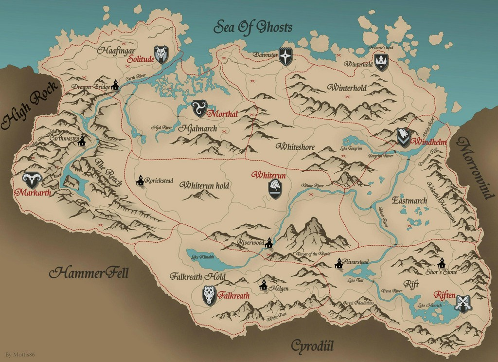 Fan redraw skyrim map in ultra hd skyrim map in hd gumiabroncs Images