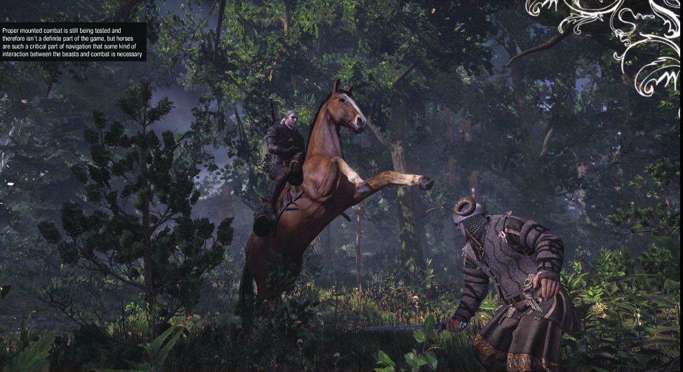 Witcher 3 combates a caballo