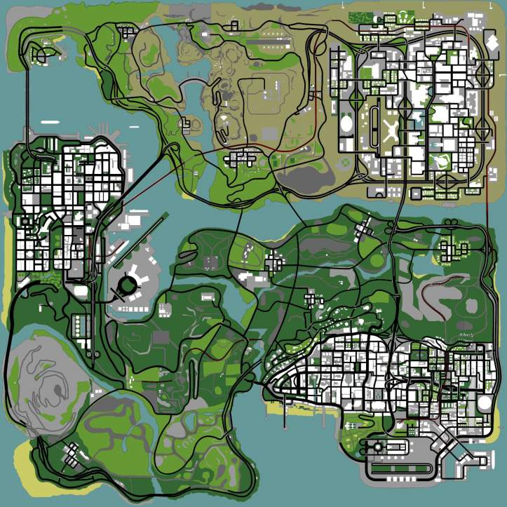 Gta 5 Map Comparison to Gta San Andreas Gta San Andreas Map