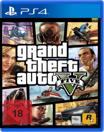 GTA V For PS4 Box Art