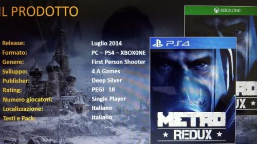 Metro: Redux For PS4, PC And Xbox One