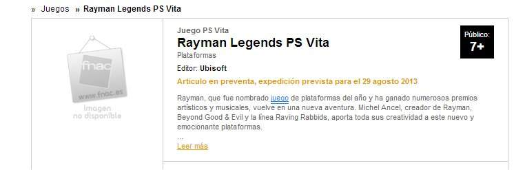 Rayman Legends PS VITA Listings