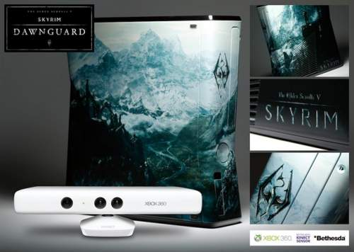 Skyrim Custom Xbox 360 with Kinect
