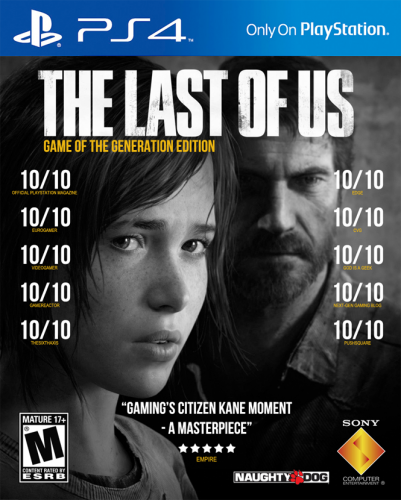 The Last of Us For PS4 Box Art