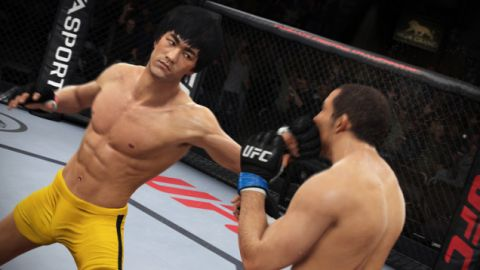 Bruce Lee Character Model In UFC Screen 2