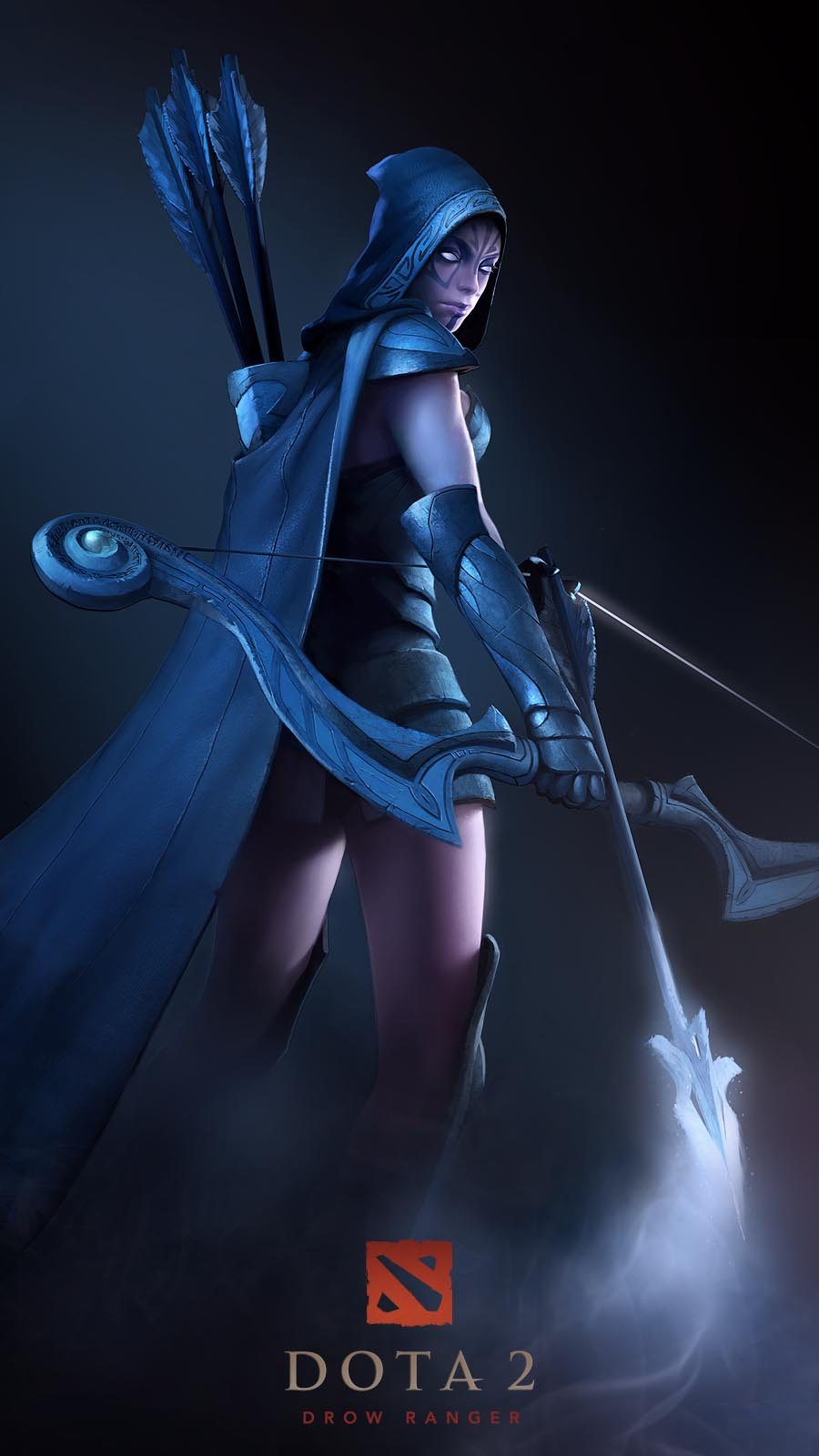 Dota 2 Drow Ranger Artwork Wallpaper