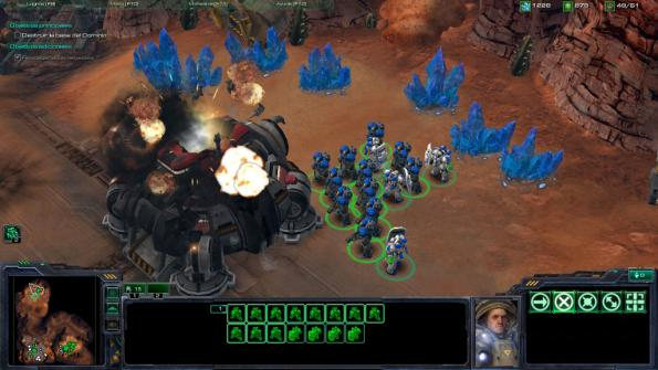 Starcraft 2 wings of liberty gameplay screen