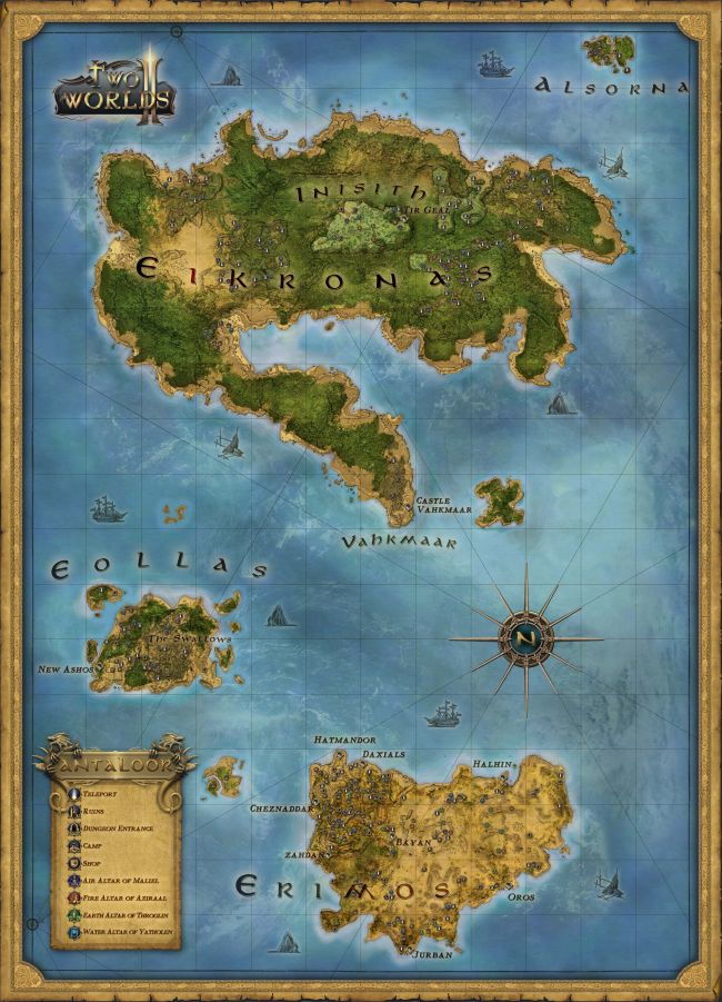 Two Worlds II, Two Worlds 2 map