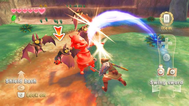 Zelda: Skyward Sword screen