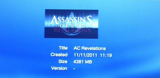 ACR PS3 Install Size