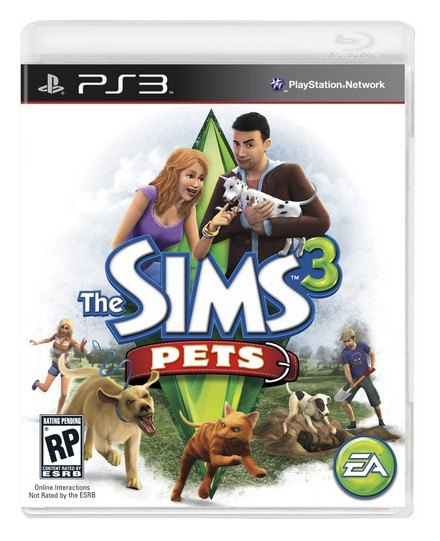 The Sims 3: Pets PS3 front packshot