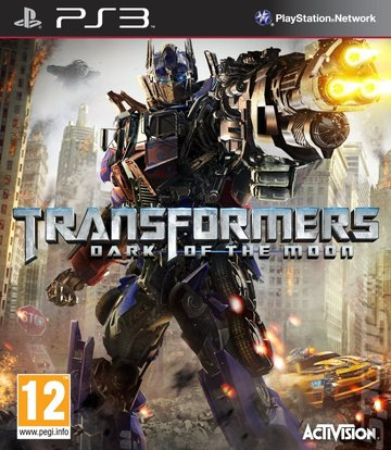 Transformers: Dark of the Moon PS3 box art