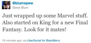 Steve Blum tweet