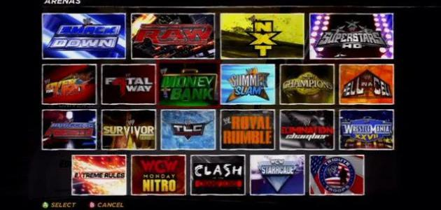 List of Arenas in WWE 12