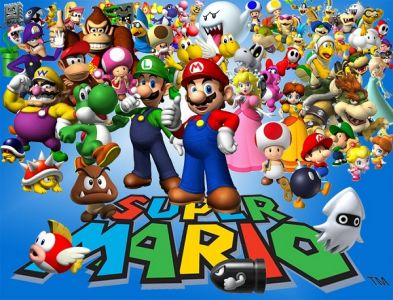 Video Game Character Collage Wallpaper The Most Favorite Mari...
