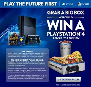 Taco Bell PS4 Giveaway