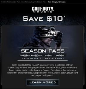 Call of Duty: Ghosts Season Pass Poster