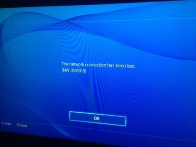 ps4 error code nw314536 reported while connecting to psn