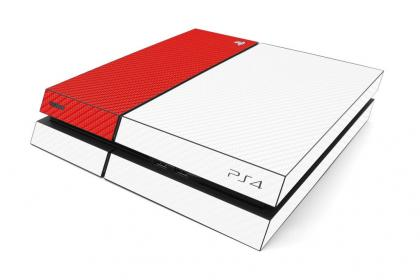 PS4 Red White Color