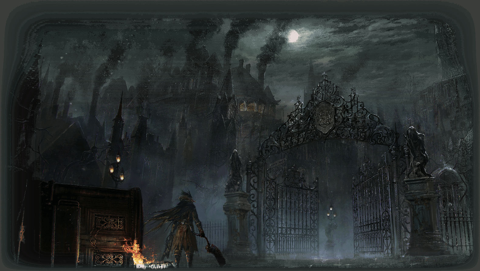 Ps4 exclusive bloodborne new artwork leaked show lead for Yharnam architecture