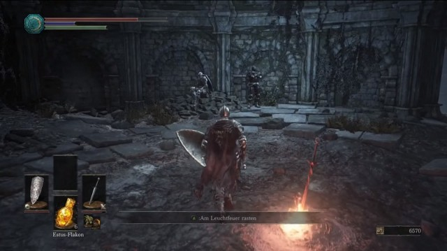 how to get past the first level dark souls 3