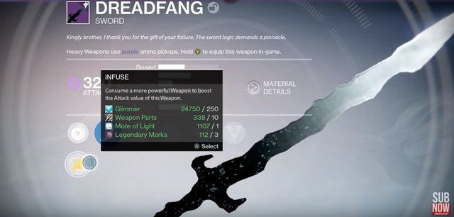 Destiny: The Dreadfang Legendary Sword Unlock Guide