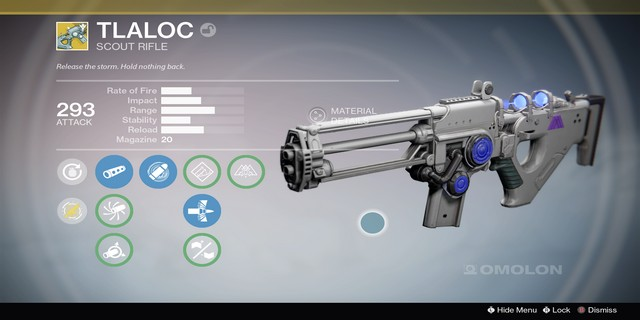 Destiny weapon first