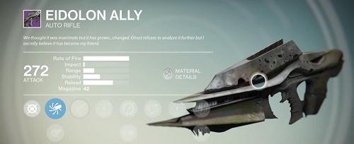How to get destiny husk of the pit rifle eidolon ally legendary auto