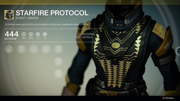 20 chest armor this exotic armor does not stack with gift of the sun