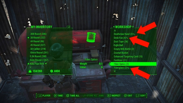 fallout 4 guide  how to make raw materials out of junk
