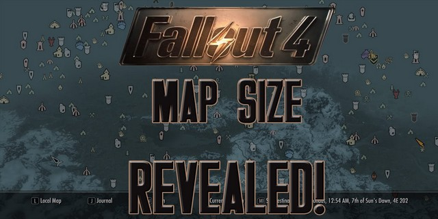 Fallout 4 Explorable Map Size Finally Detailed, 3.82 Square Miles ...
