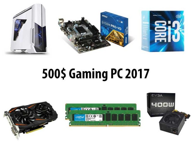 $500 Budget Gaming PC - 2017
