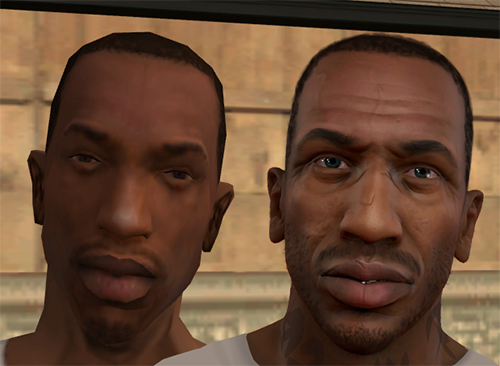 Fan Made Cj Johnson Character Model For Gta V Looks Truly