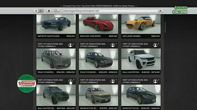 Gta All Car Prices