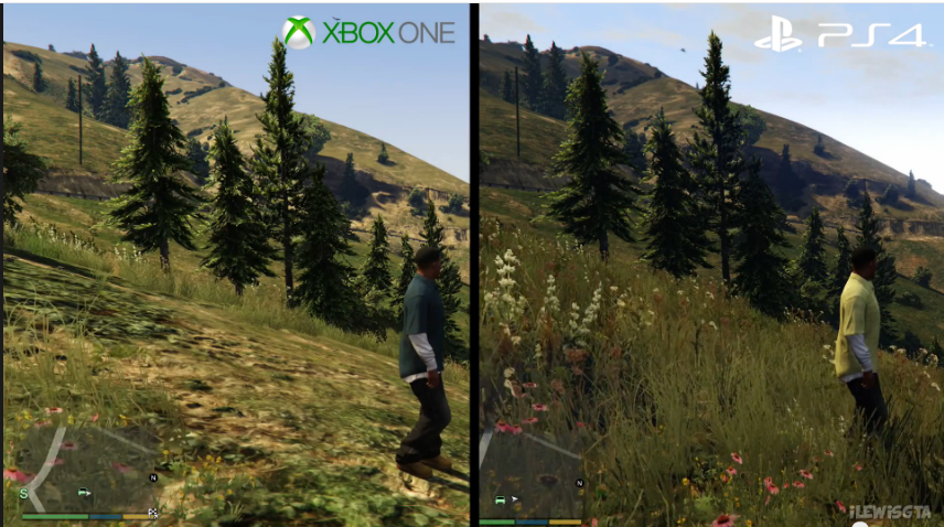 gta v ps4 vs xbox one comparison gifs shows startling and. Black Bedroom Furniture Sets. Home Design Ideas