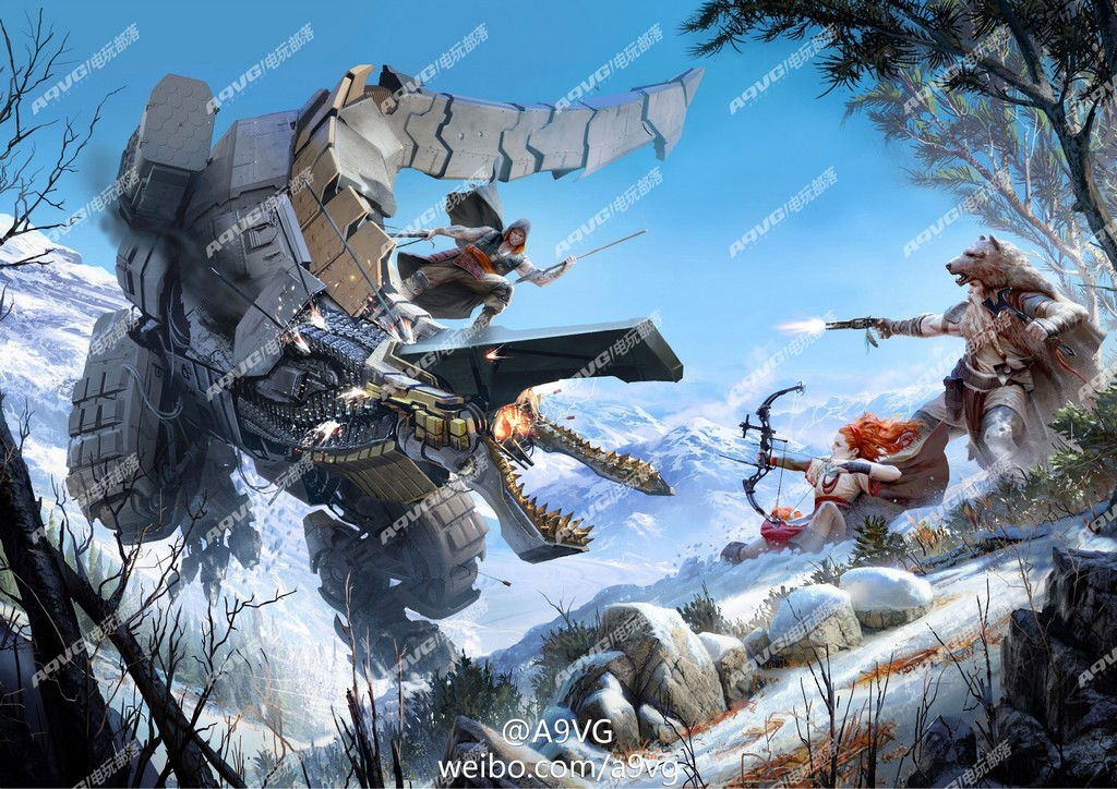 """Tuned In Tokyo >> Guerrilla Games Unannounced PS4 IP Codenamed """"Horizon"""", First Concept Art Leaked, Features Robot ..."""