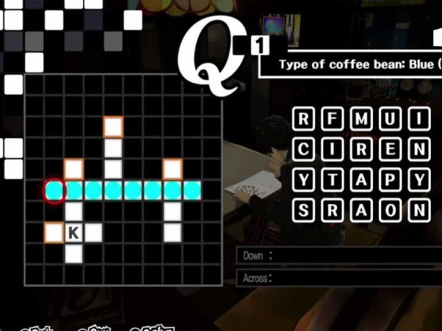 Persona 5 Answer Of All Crossword Puzzles In Coffee Shop