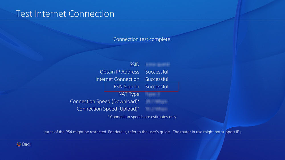how to connect to psn on ps4