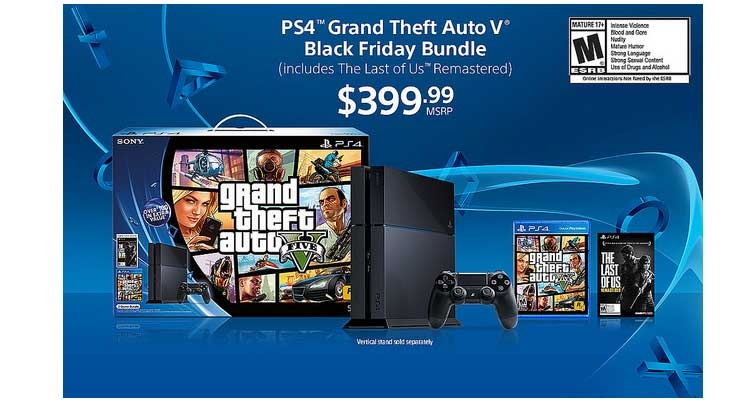 Amazon Ps4 Black Friday Bundle Gta V And The Last Of Us