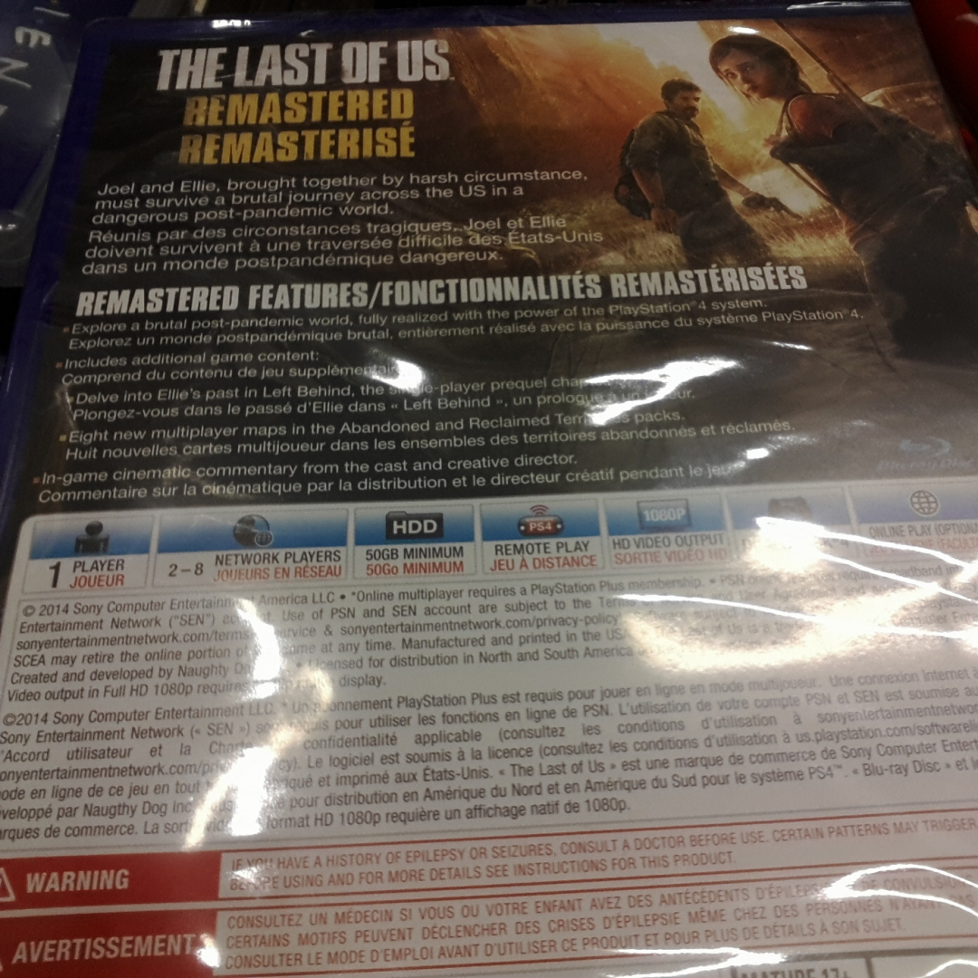 The Last Of Us Remastered PS Needs GB HDD Space For - The last of us remastered maps