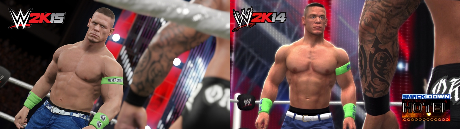 WWE 2K15 Vs 2K14 Comparison Screen