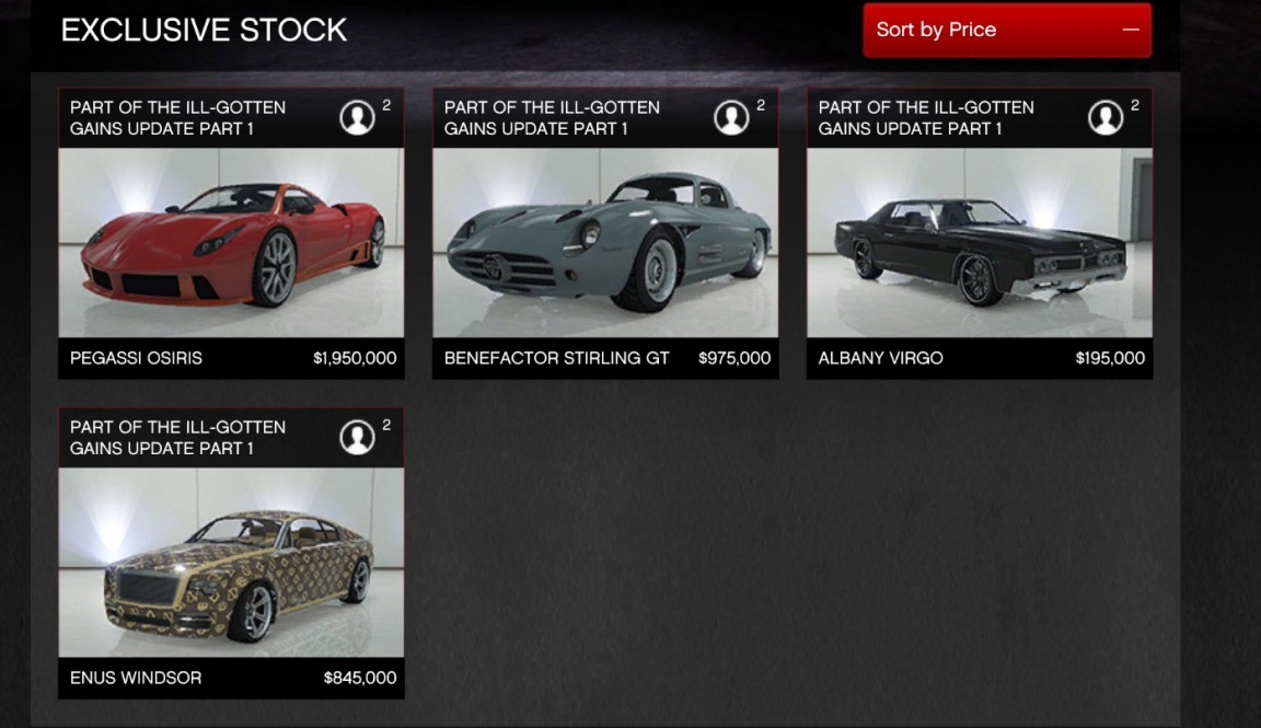 Gta V Simeon Car Prices